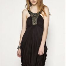 BEAUTIFUL ALL SAINTS AKIKO EMBELISHED NECKLINE GRECIAN INSPIRED DRESS SIZE UK 10