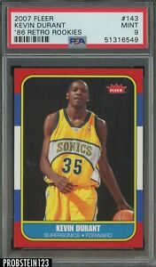 2007-08 Fleer 1986 Retro Rookies Kevin Durant Supersonics RC Rookie PSA 9 MINT