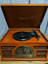 Crosley CR66 5 in 1 Rochester Record Player Aux Input AM/FM Radio Tape CD