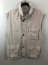 Barisal Vest XL 49 Chest Zip Snaps Hoodie Tan Golf Fish Hike Photography Fast SH