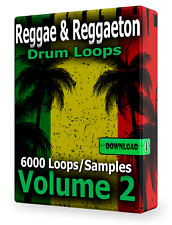 Reggae and Reggaeton Drum Loops Volume 2 WAV Samples FL Studio Ableton Cubase