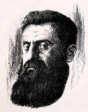 1920 Original HERZL LITHOGRAPH Judaica JEWISH ART BOOK Bezalel BUDKO Woodcuts