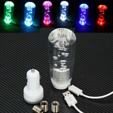 Universal Colorful Crystal Bubble LED Light Clear Manual Gear Shift Knob Shifter