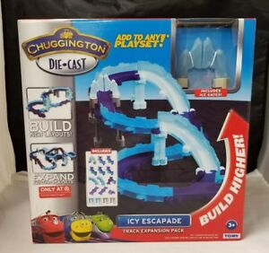 Chuggington Die-Cast Icy Escapade Track Expansion Pack Koko Ice Gates Tomy New