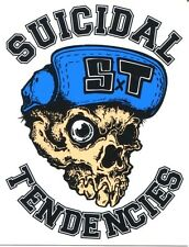 SUICIDAL TENDENCIES skull/s.t. hat logo Skate/Skateboard STICKER **FREE SHIPPING