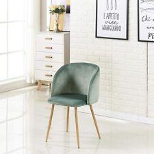 Silla de comedor de terciopelo Silla de sala de estar con patas de metal sólido