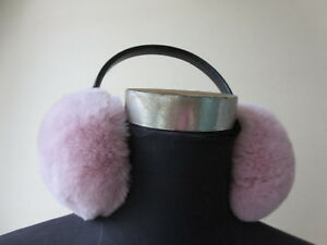 Winter Fur Ear Muff Women Real Rex Rabbit Fur Ear Cover Warm 8Colors
