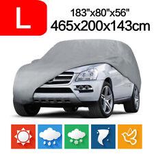 Large SUV Full Car Cover Waterproof Sun UV Snow Dust Rain Resistant Protection