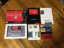 Final Fantasy II 2 (Super Nintendo SNES) Complete, CIB ~ Cleaned & Tested