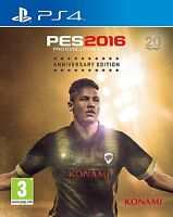 PES 2016 Pro Evolution Soccer + Steelbook Anniversary Edition PS4 NEW SEALED