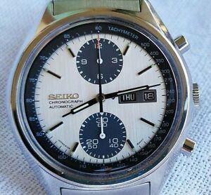 Rare Vintage Automatic Chronograph Watch Seiko 6138 8020 Panda all original