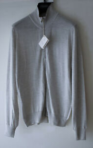 Brunello Cucinelli Silver Grey Cashmere Silk Cardigan Made Italy SZ 50 UK M £960