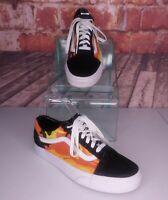 Vans Low Top Sneakers Orange Camo Men's Size 6