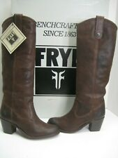 NEW Frye Women US 5.5 Jackie Button Dark Brown Knee-High Ridding Leather Boots