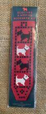 Textile Heritage Scotties & Westies Bookmark Counted Cross Stitch Kit Unopened