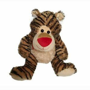 Dan Dee Tiger Plush Toy Stuffed Animal Collector's Choice Red Nose Striped Fuzzy