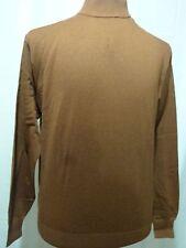 Men's Mock Neck, Silk/Cotton Light Weight Sweater, Rust, NWT