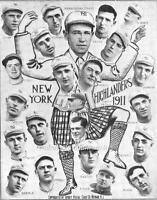 Photo 1911 New York Highlanders Baseball Team