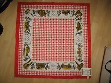 Munich Olympics Tablecloth - Vintage 1972 Munchen Germany Olympic Game Linen