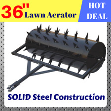 """Lawn Aerator 36"""" Spike Plug Core Aeration Grass Scarifier Tow Behind ATV Ride on"""