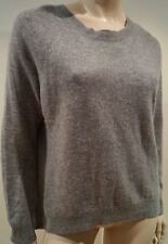 AUTUMN CASHMERE Women's Grey Round Neck Zipper Detail Knitwear Jumper Sweater