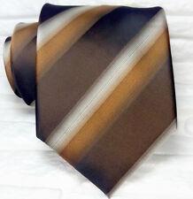 Cravatta marrone business  Nuova seta 100% Made in Italy marca Morgana handmade