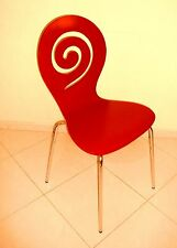 Designer Study Working Dining Red Colour Wood Chair