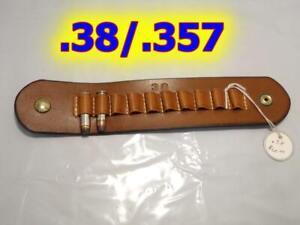 Snap On Custom Leather 10 Bullet Ammo Cartridge Carrier for .38/.357