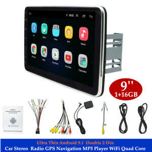 "9"" Android 9.1 2Din Car Stereo Radio GPS Navi MP5 Player WiFi Quad Core  Mirror"