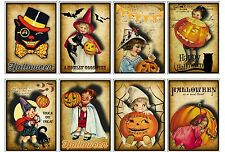 8 Primitive Halloween ATC Cards Hang Tags - Scrapbooking, Paper Crafts (51)