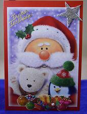 Ausgefallene 3D Karte,Handarbeit, Weihnachtskarte, Weihnachtsmann, Teddy,Pinguin