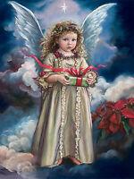 5D Full Diamond Painting Cartoon Little angel Cherub Embroidery Handicraft 6026X
