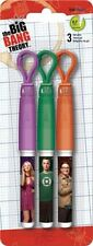 The Big Bang Theory Set of 3 Gel Pens : Penny Sheldon Leonard
