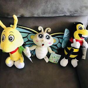 Dog Plush Toys Set Of 3 New