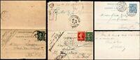 France 1900 - 1920 3 Preprinted Carte lettre Paris Dijon