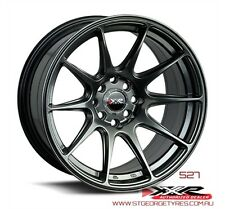 15 INCH XXR 527 CHROMIUM BLACK WHEELS DRIFT STYLE PACKAGE GENUINE XXR RIMS
