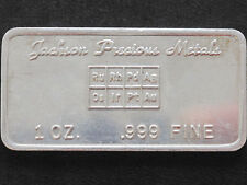 Jackson Precious Metals Commercial Unlisted Silver Art Bar P1553
