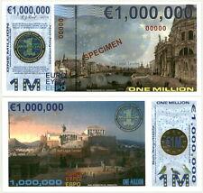 2014 SPECIMEN ISSUE POLYMER 1 MILLION (1000000) EURO HOLOGRAM FANTASY ART NOTE!