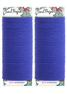 Soul Projekt Hair Bands 100 pack Bobbles No Metal School Blue Hair Ties 4mm