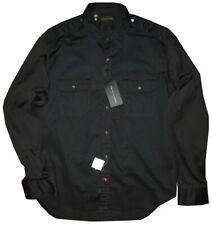 $395 NEW RALPH LAUREN BLACK LABEL SLIM FIT STRETCH MILITARY DRESS SHIRT L