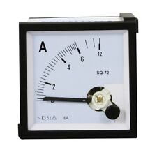 1PC SQ-72 Class 1.5 AC 0-6A Square Analog Panel AMP Current Meter Ammeter Gauge