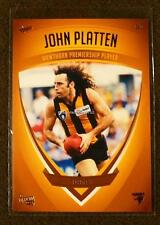 2011 SELECT HAWTHORN HERITAGE PREMIERSHIP PLAYER CARD JOHN PLATTEN