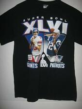 NFL Football Super Bowl Giants VS New England  Adult Medium   T-Shirt