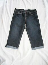 Denizen By Levis Capri Cropped Jeans Sewn Cuff Size 8 Inseam 18in. Cotton Blend