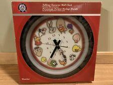 "New ListingWarner Bros. Looney Tunes ""Talking� Character Wall Clock - 1999 - Westclox"