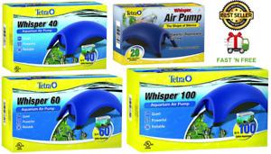 Tetra Whisper Air Pump Aquarium Fish Tank. Minimal Noise -Maximum Air Flow!