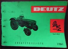 Deutz Schlepper D 40 L Ersatzteilliste