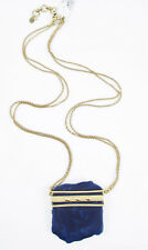 $55 Lucky Brand Gold-Tone Lapis Pendant Necklace