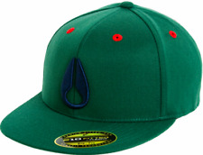 Nixon Men's Deep Down Flex Fit Hat Cap - Forest Green (S/M)