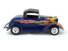 Johnny Lightning Street Hot Rods 1932 32 Ford Hiboy Blue Die Cast 1/64 Loose